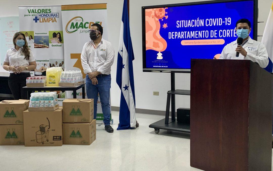 Donación de Productos de Bioseguridad para el Sistema de Salud público en Honduras